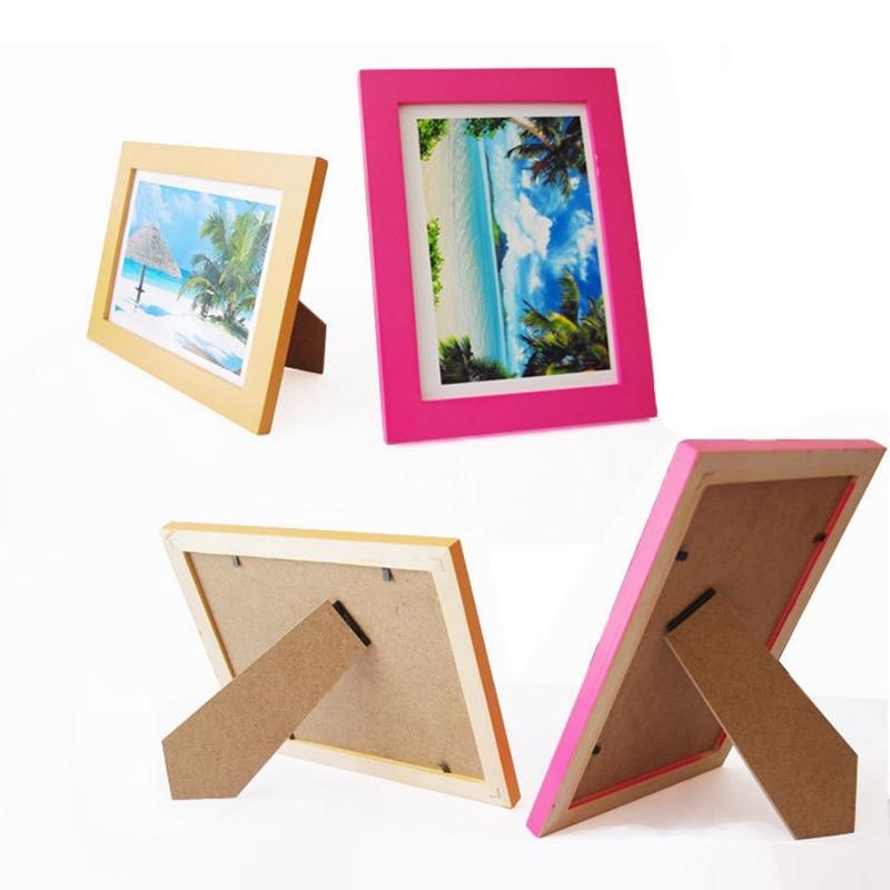 Simple Wooden Picture Frames Vintage Photo Frame DIY Desktop Wood ...