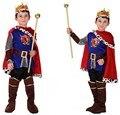 Хэллоуин Косплей Дети Prince Костюм Мальчик Король Костюмы Дети Фантазия Европейский Роялти Одежда для Партии Косплей 89