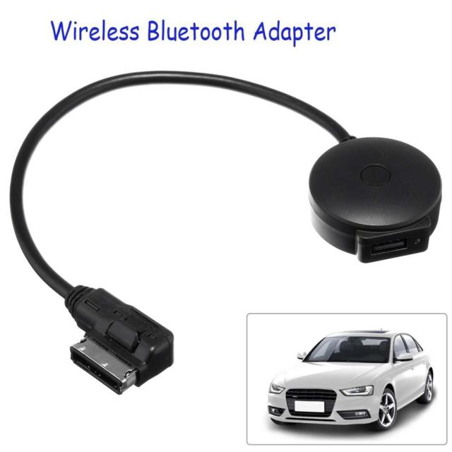 US $11 71 19% OFF| Car AMI MDI Music Interface USB Bluetooth Adapter Cable  MP3 Player for Audi/VW Portable mini Black Bluetooth Music Audio Receiv-in