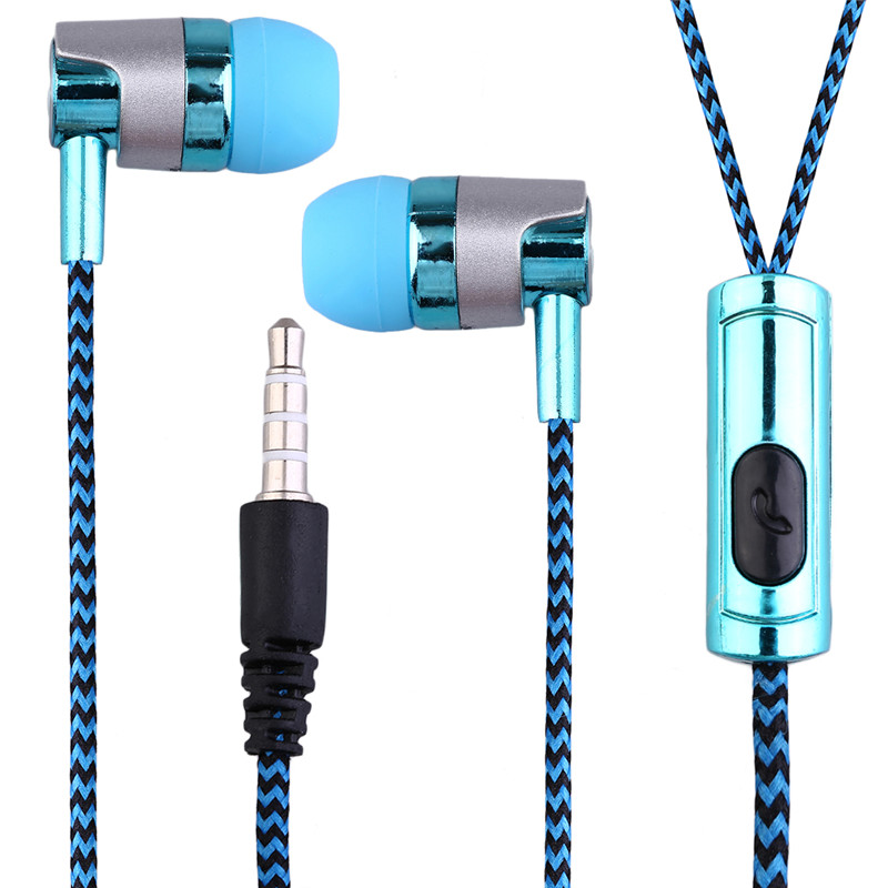 Hot New Professional KY-38 Color Cloth Line Heavy Bass Sound In Ear Music Earphones Universal Mobile Phone Headset