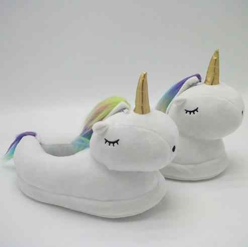 0d4327631aa Glowing Unicorn Plush Slippers for Adult Unisex Teenage Girls horn Slipper  Home Light Up Led Women
