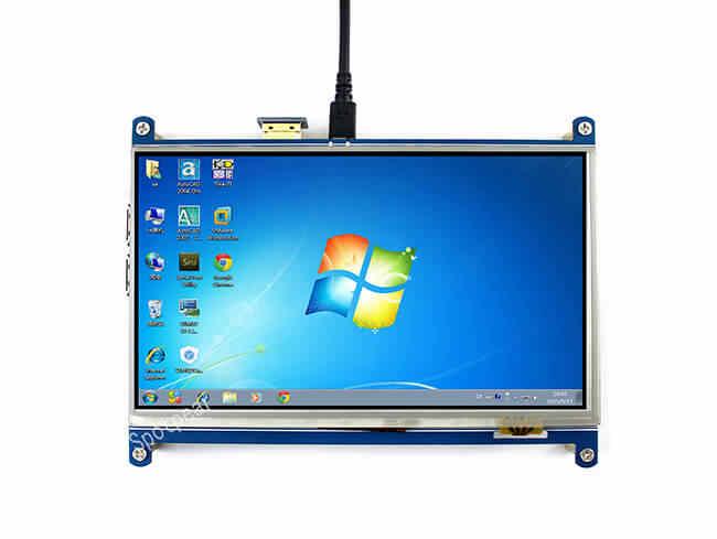 شاشة راسبيري pi 7 بوصة LCD مقاوم لمس HDMI 1024X600 7 بوصة tft شاشة تعمل باللمس gpio