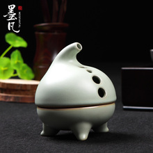 Ru-ceramic incense burners aromatherapy furnace lying fragrance of sandalwood coil Tower  road ornaments