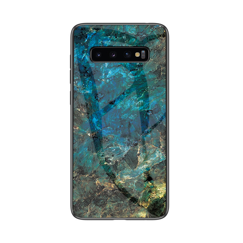 Galaxy S10+ Case Cover For Samsung Galaxy S10 Plus S8 S9 Plus Case Marble Tempered Glass Coque For Samsung S7 Edge S10e S10