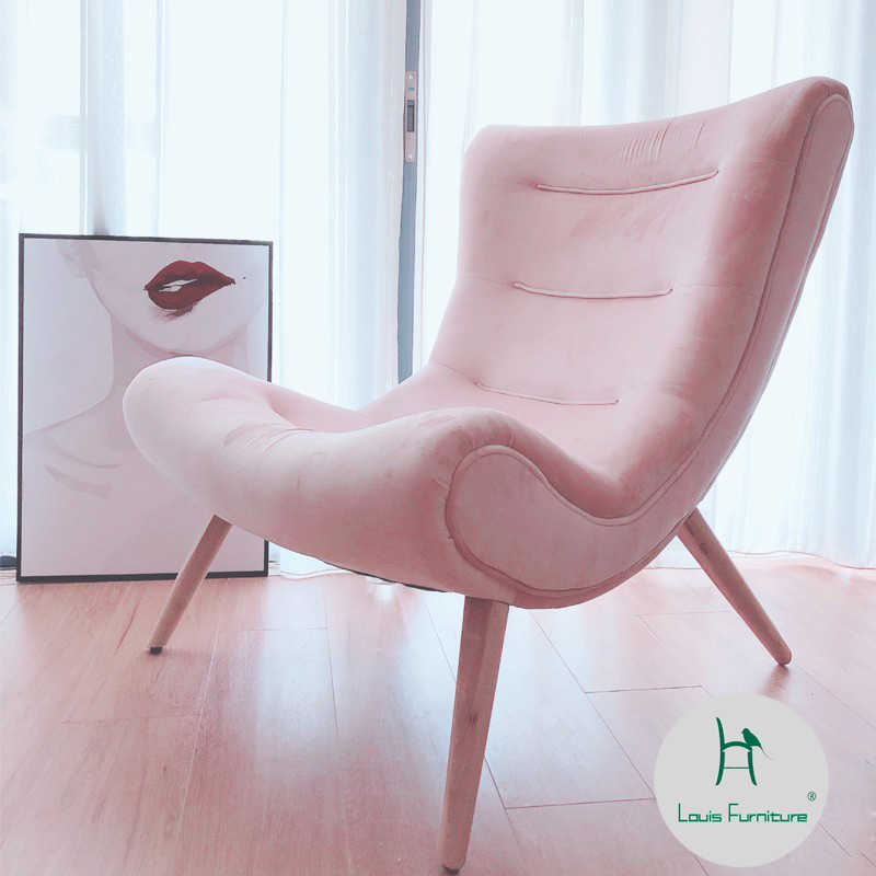 Louis fashion Living Room Sofas Modern Simple Nordic Snail Chair  Leisure Lazy Fabric Solid Wood Furniture