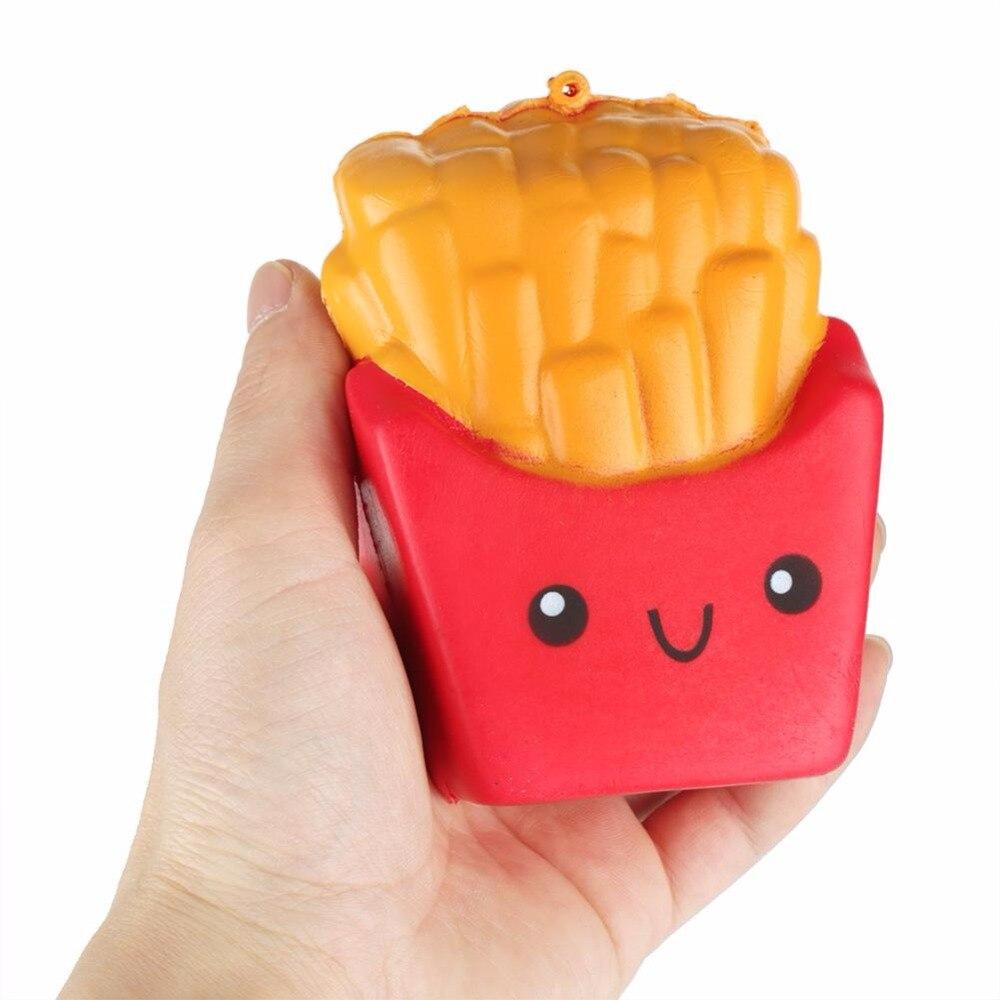 Новое поступление PU картофель фри Забавные игрушки замедлить рост Squeeze игрушки эластичные снятие стресса малыш раннего образования модели...