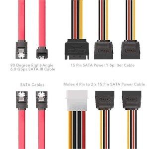 Image 3 - المزدوج SSD HDD شريحة متزايدة 3.5 إلى 2.5 محرك أقراص الصلب الداخلي عدة كابلات 2.5 الصلب محرك أقراص إلى 3.5 خليج صينية العلبة