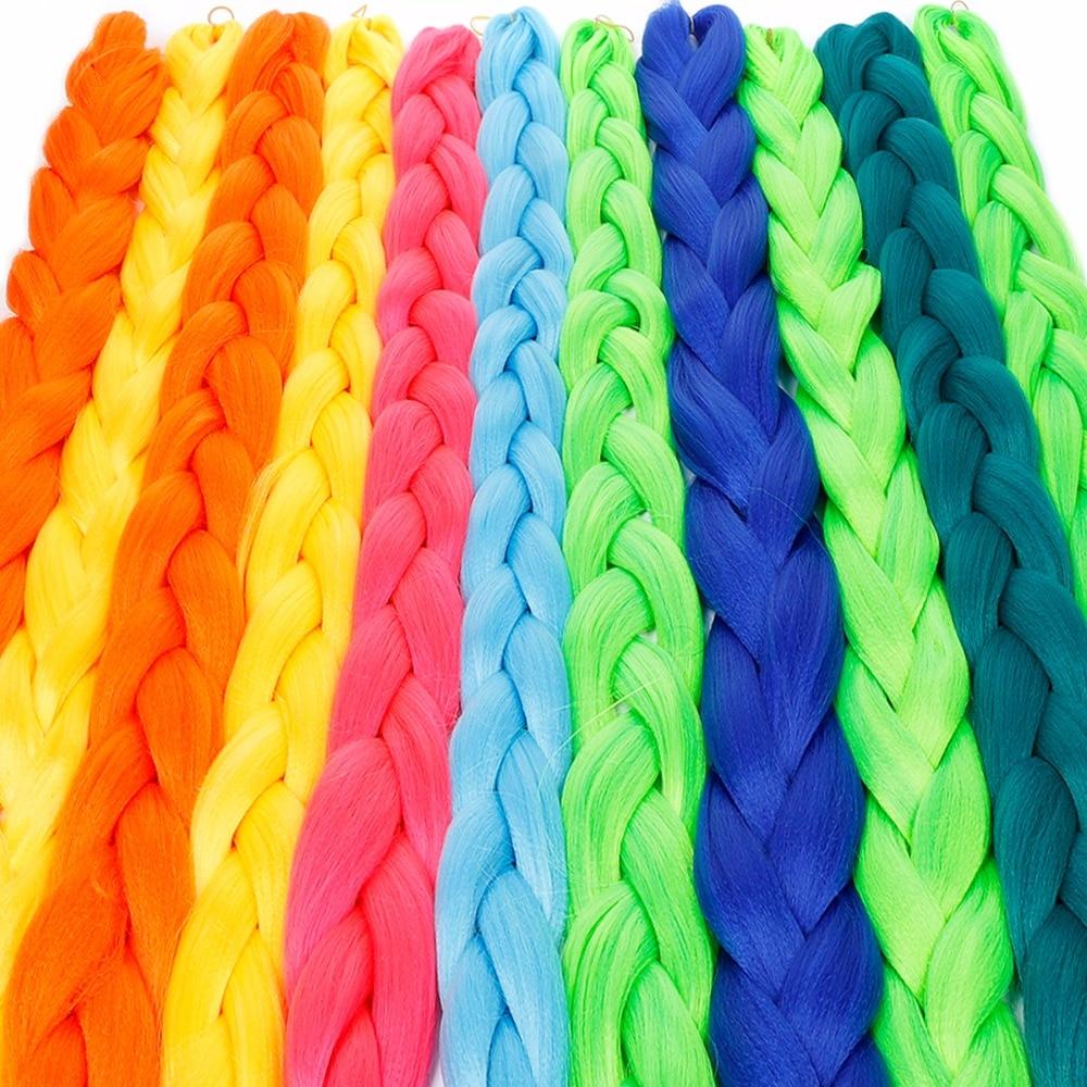 JINKAILI WIG Synthetic Jumbo Braids Hair Bulk African Hair Crochet Hair Extensions Heat Resistant 165g