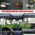 Carro-styling HD CCD da Câmera De Backup Automático + 5 polegada LCD retrovisor do carro monitor espelho para volkswagen vw amarok/robusto 2010 ~ 2014