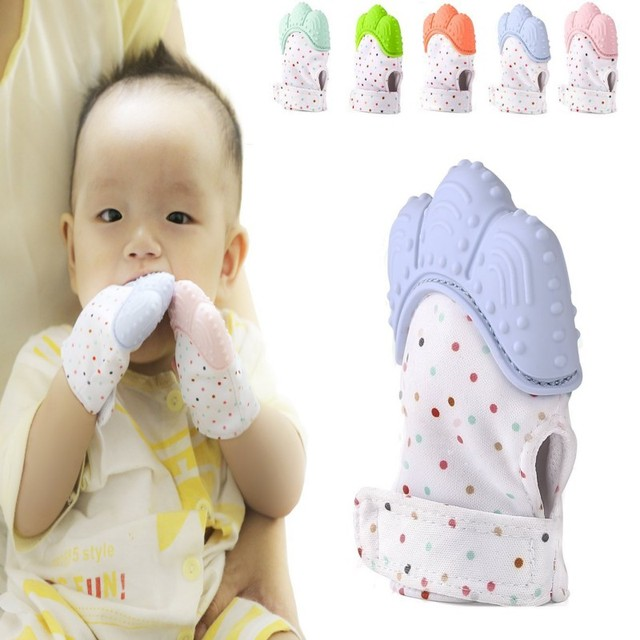 Silicone Baby Pacifier Glove Soother Baby Biting Teeth Chewing Biter ...