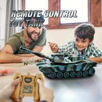 1/28 RC Tank Remote Control Toys Battle RC Tank M1A2 Automatic Presentation Tanks Via Musical Scal Rc Tank For Boys Xmas Gifts