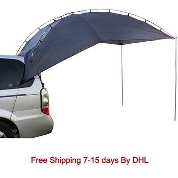 Открытый кемпинговый тент для автомобиля анти-УФ садовый рыболовный навес водонепроницаемый дорожный автомобильный тент для пикника боль...