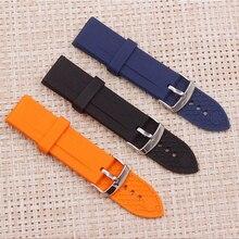 d0dab4f306b Assista acessórios pulseira de Silicone 23mm pin fivela faixa de relógio de  borracha para Armani AR0527