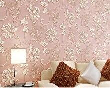 beibehang papel de parede European pastoral relief  nonwovens 3d wallpaper warm background home improvement