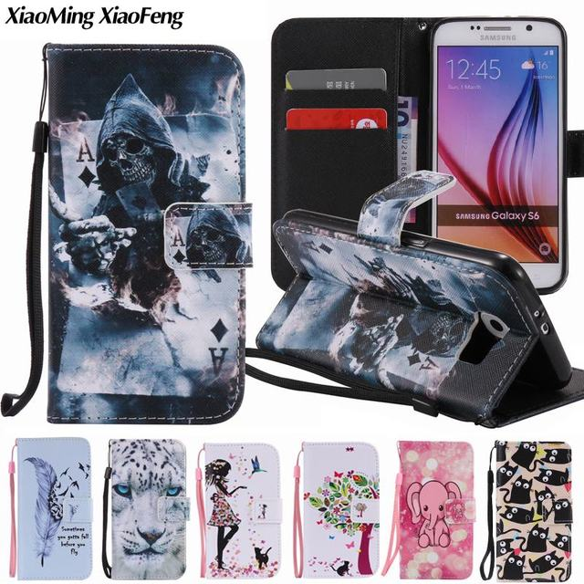 size 40 d3dbb 851c8 US $3.99 20% OFF|For Coque Samsung Galaxy S6 Case Leather Wallet Luxury  Phone Case Samsung Galaxy S6 Cover Cute Cat Girls Anime Animals Flip  Case-in ...