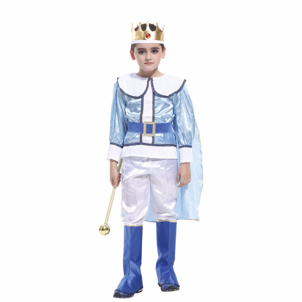 Boys Noble King Role Play Clothing Children Boy Cosplay Halloween Costumes Masquerade Party Kids Clothing Set Kids Boys Clothes kids halloween costumes cosplay caribbean pirates costumes captain jack children role playing children party clothes