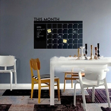 60*92cm PVC Material Home Office Decor Chalk Board Blackboard Monthly Calendar Wall Sticker