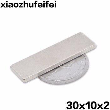 500pcs 30mm x 10mm x 2mm Super Strong Block Neodymium Rare Earth Magnet 30*10*2 Nickel 30x10x2 NEW Art Craft Connection