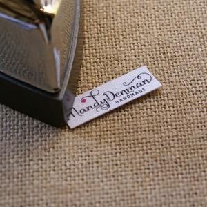 Image 4 - 96 sztuk własne logo etykiety/metki z logo, spersonalizowana nazwa tagi dla dzieci, żelazko na, spersonalizowane etykiety odzieżowe, plakietki