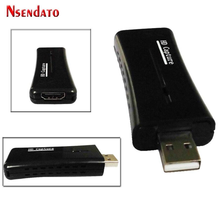 Nsendato UTV007 USB 2,0 a HDMI Video Catpure tarjeta USB2.0 HD 1 Video adaptador de convertidor de tarjeta para Windows XP/Vista/7/8/10