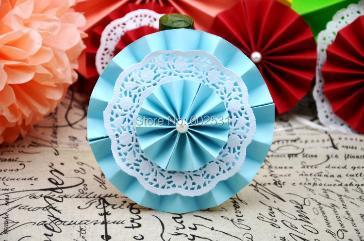 SPR 30cm Wedding Tissue Paper Umbrella Flower Fan Props Supplies DIY Decoration For Background In Party Decorations From