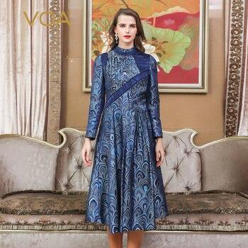 1e693a5fcfb Product Offer. VOA Винтаж китайский парчовый Шелковый платье Для женщин ...
