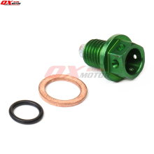 Green Megneto Engine M12 Oil Drain Plug Bolt Nut hollow Screw Washer Pit Dirt Monkey Bike ATV Quad Buggy Kart Motorcycle