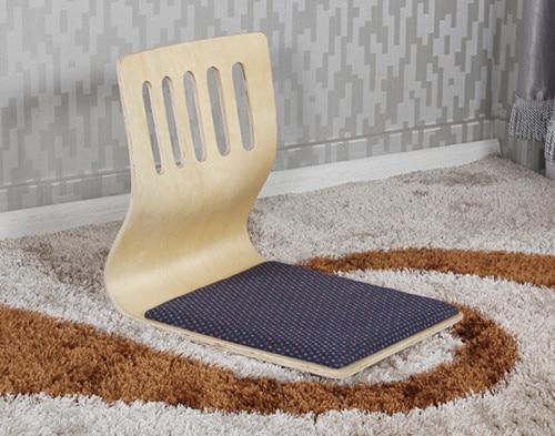 (6pcs/lot)  Asian Furniture Living Room Kotatsu Chair Natural Finish Traditional Japanese Style Tatami Zaisu Floor Legless Chair