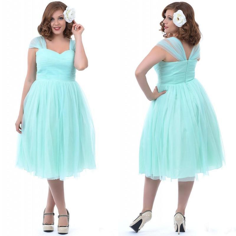 Tea Length Full Figure Dresses