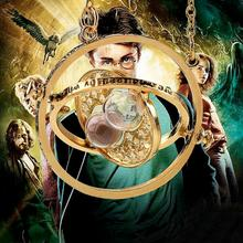 2016 Hot Sale Harry potter time collar necklace turner hourglass Harry Potter Necklace Hermione Granger Rotating Spins(China (Mainland))