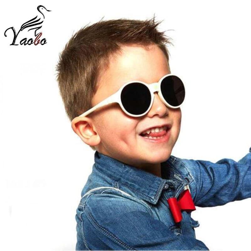 Hot Sale Fashion Round Children Glasses Frame Baby Boys Girls Eyeglasses Frame Vintage Kids Clear Lens Optical Spectacle 2-7 Old Pleasant In After-Taste Boy's Sunglasses