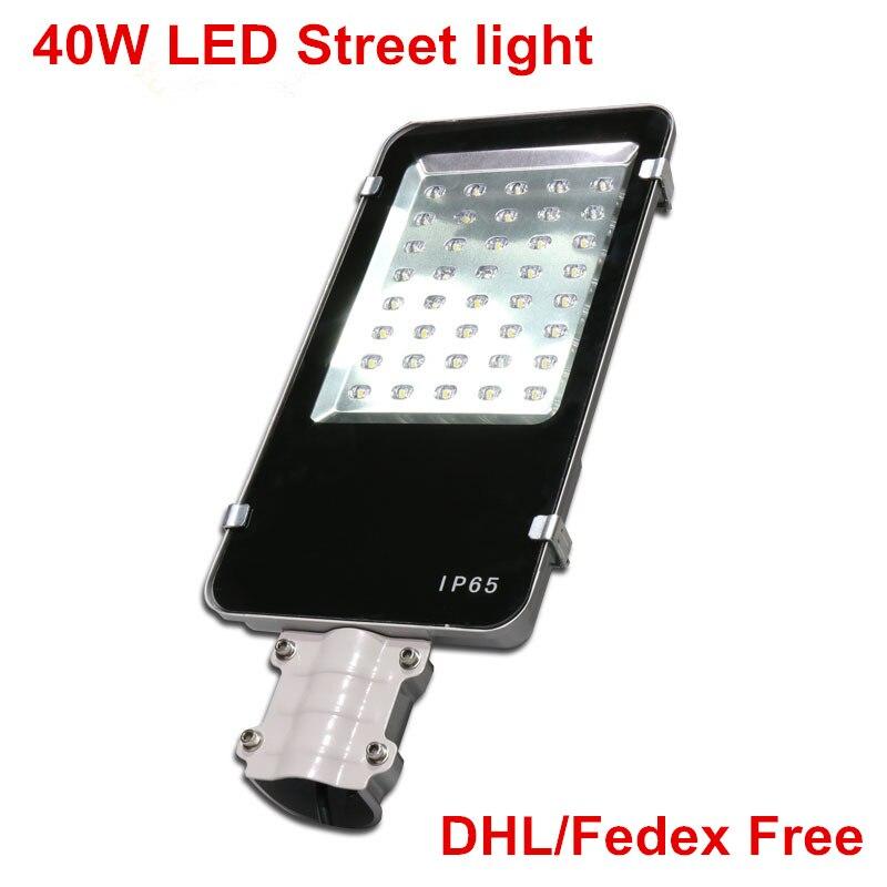 6pcs/lot,DHL Free shipping,40W LED Street light DC12V DC24V AC85 265V Aluminum LED Road Lamp Ultra Bright Outdoor Street light