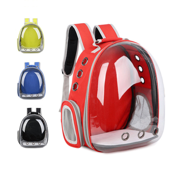 Breathable Portable Cat Carrying Bag Pet Outdoor Travel Backpack Puppy Dog Bag Transparent Space Carrying Cage Pets Supplies фото