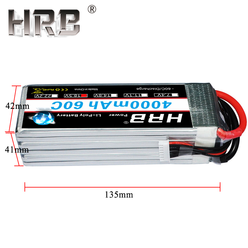 HRB 5S Lipo Battery 4000mAh 18.5V T Deans Plug 60C XT60 EC5 For Helicopters Car Boat Quadcopter Airplanes RC Parts Rechargeable