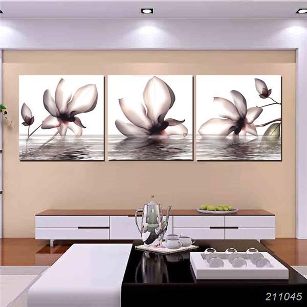 Maison Contemporaine Devor Mur Peinture Fleur Dans Leau Magnolia