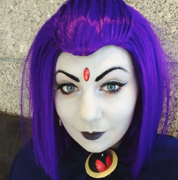 Raven From Teen Titans Medium Long 35Cm Purple Manic Panic -5013