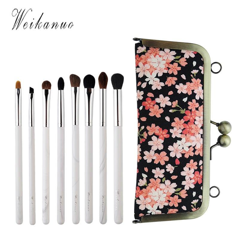 8Pcs Makeup Brushes Set Bag Foundation Brushes Kits Soft Cosmetics Foundation Shadow Tools Fine Craft Sewing with Make Up Bag