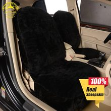 1 piece price free shipping hot selling American style sheepskin car seat cover for front auto interior accessories