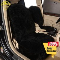 OKAYDA seat cover car Fur Australia 1pcs sheepskin universal size accessories deluxe automobiles styling free shipping