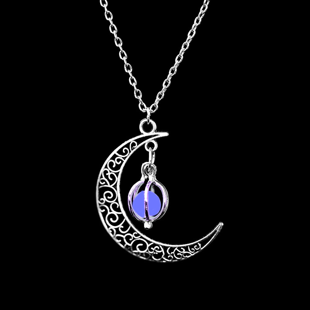 Vienkim Neo-Gothic Luminous Pendant Necklace Women Charm Moon In The Dark Glowing Stone Necklaces For Jewelry Christmas Gifts 14