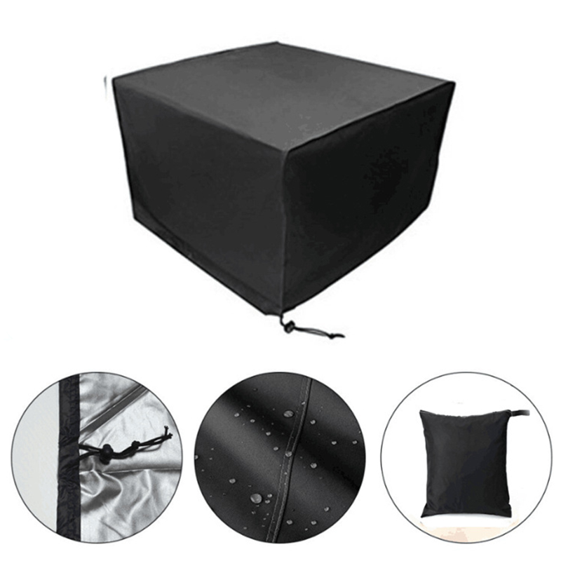 Black Polyester Waterproof Case Outdoor Patio Furniture Dust Rain Cover For Home Chair Table Protect Bag Ft001 In All Purpose Covers From