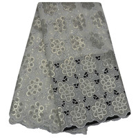 2017 Newest Sequins Organza Lace Fabric High Quality Embroidered African Lace Fabric French Organza Lace Fabric For Party Dress