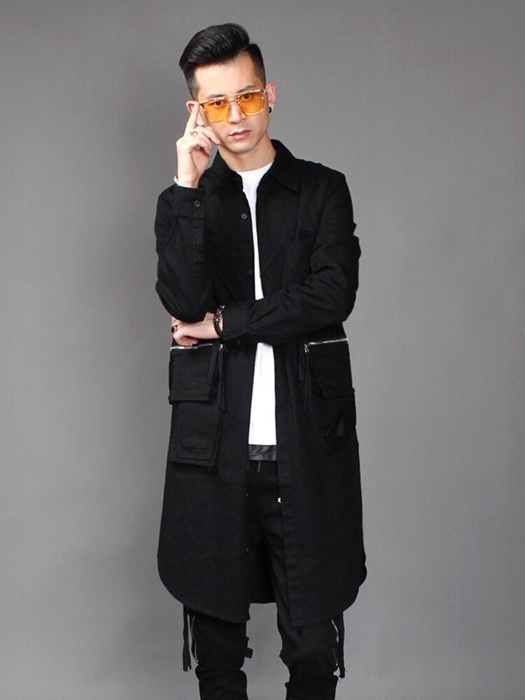 Новинка 2018, Осеннее издание, мужской Тренч в Корейском стиле, трендовый тренд в стиле персональных волос на молнии, еще больше пальто joyride