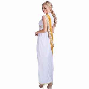 Image 3 - Women Sexy Greek Goddess Roman Lady Egyptian Costume Cosplay White Jumpsuit Robe Fancy Dress for Female Adult Halloween Costumes