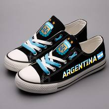 60bcced04d0 Fashion Argentinian Printed Canvas Shoes Personality Argentina Nation  Custom Flat Walking Shoes Men Plus Size schoenen