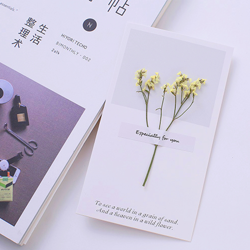 5pclot dried flowers thank you card handmade cuter wedding 5pclot dried flowers thank you card handmade cuter wedding invitations birthday greeting card invitation gift decoration card in cards invitations from m4hsunfo