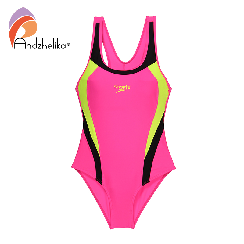 Andzhelika 2019 New Children Swimsuit Girls Sport One Piece Swimwear Patchwork Bodysuit Kid Bathing Suit Child Beach Monokini 4
