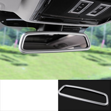 lsrtw2017 pearl chrome abs car interior rearview trims for jaguar f-pace 2016 2017 2018 2019