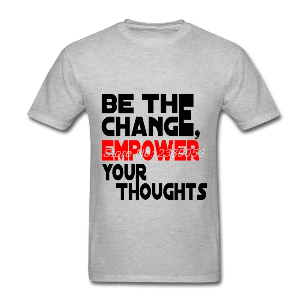 Design your own t-shirt hamilton - Men T Shirt Design Unique Novelty Empower Your Thoughts Casual Tee Tops Crew Neck Short Sleeve