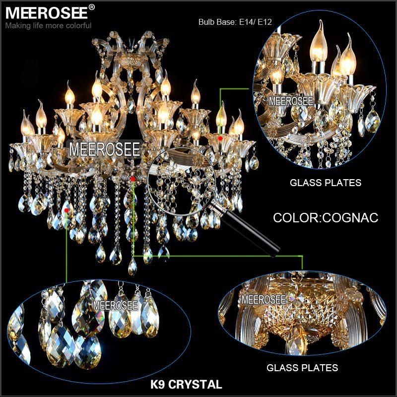 Maria Theresa Cristal Candelabru Lumină de coniac LED Lustru de - Iluminatul interior - Fotografie 4